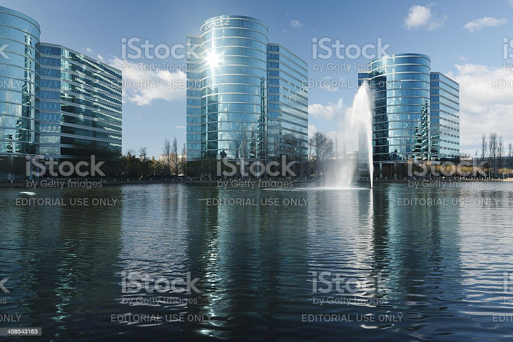 Oracle Corp headquarters in Redwood Shores, California stock photo