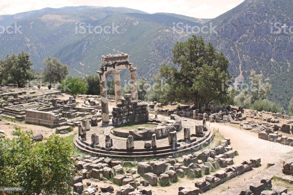 Oracle of Delphi, Greece stock photo