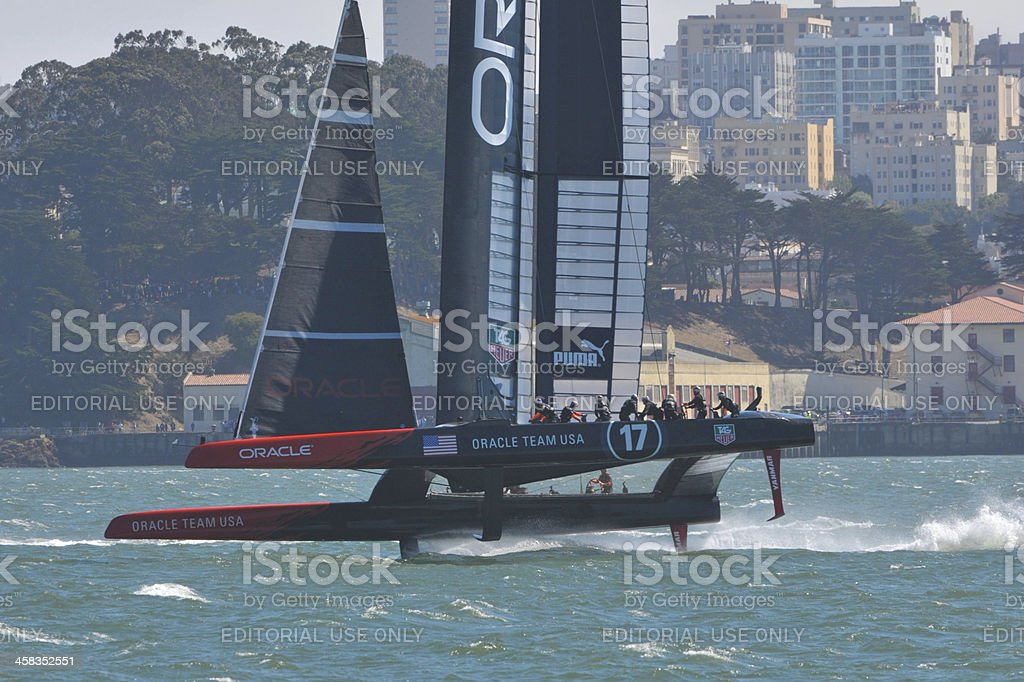 Oracle Team USA Competes in the America's Cup Finals stock photo