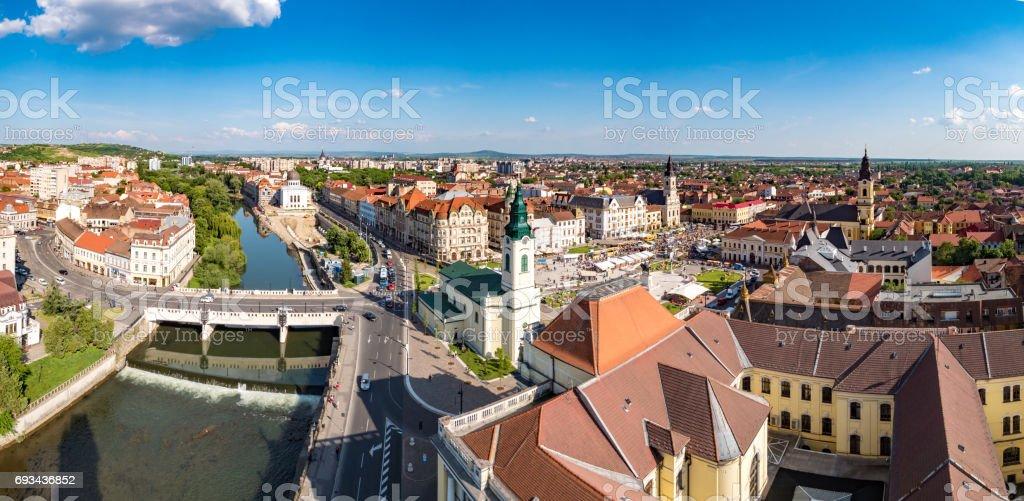 Oradea city panorama stock photo