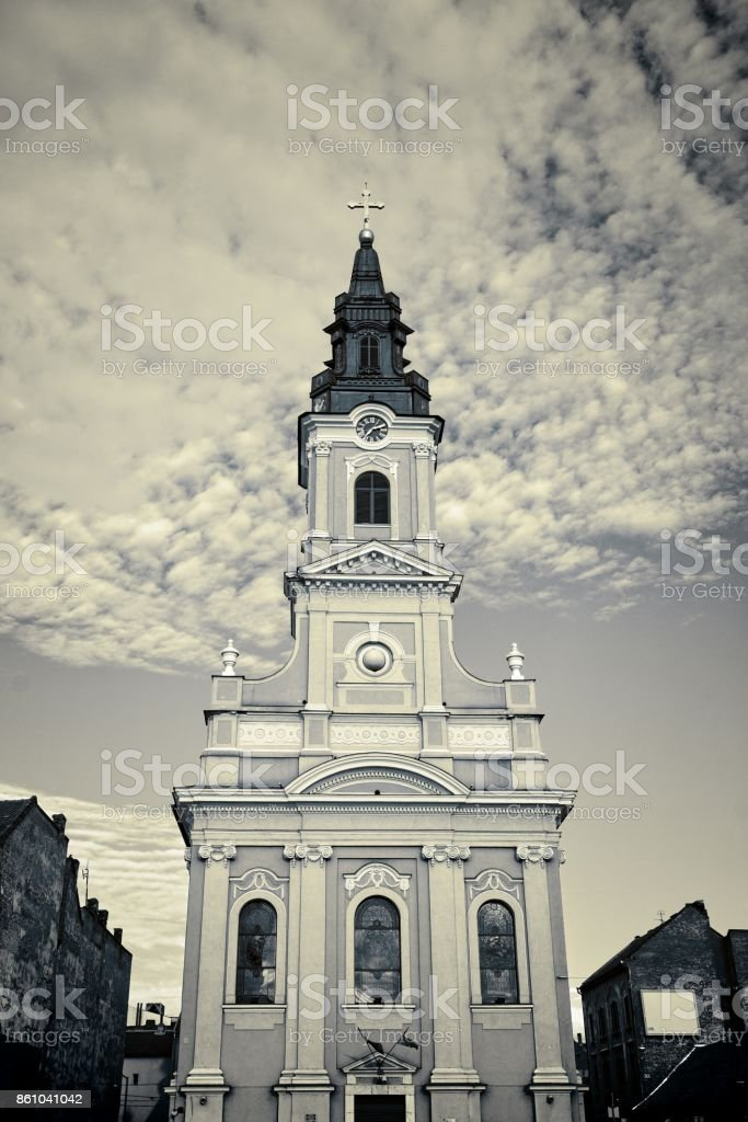 Oradea Orthodox Episcopate Cathedral, Romania stock photo