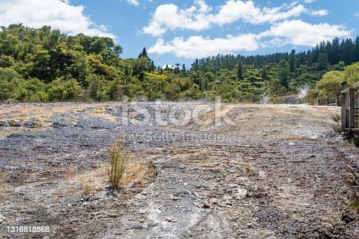 istock Orakei Korako Geothermal Park & Cave at Hidden Valley, Taupo, New Zealand 1316818868