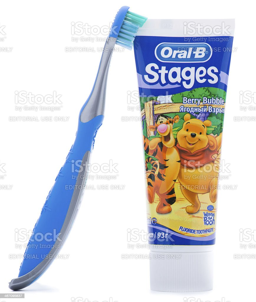 Oral B Toothpaste and Toothbrush royalty-free stock photo