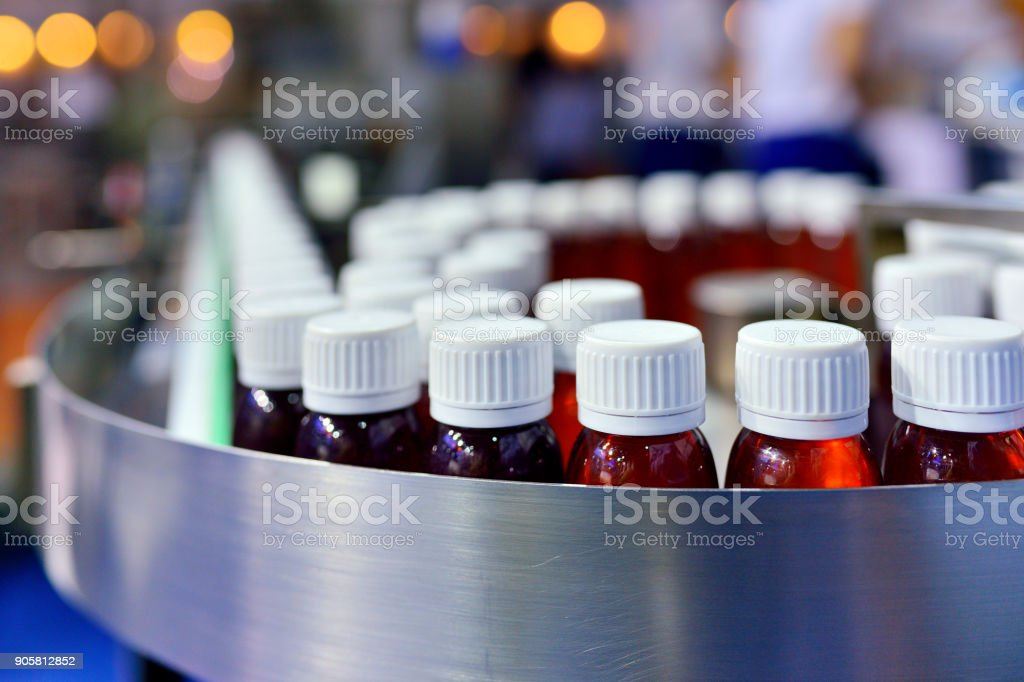 Oral Solution Pharmaceutical Production Line stock photo