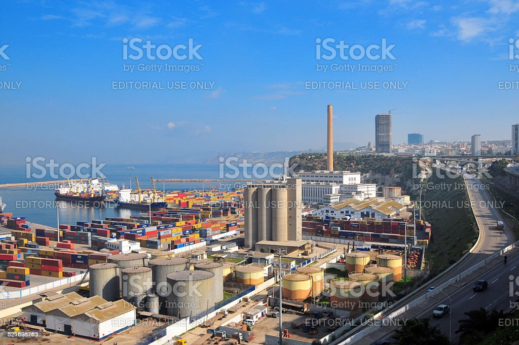 Oran, Algeria: harbor stock photo