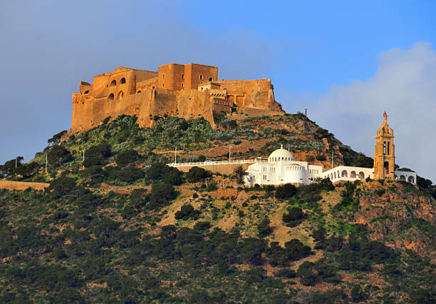 oran, algeria: santa cruz fortress - algeria stock photos and pictures