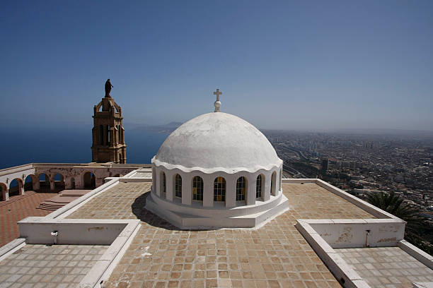 oran santa cruz chapel - algeria stock photos and pictures