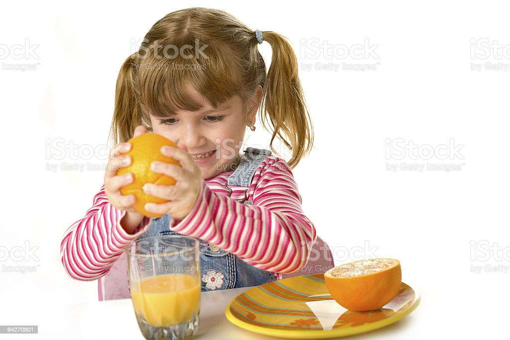 Orang juice producer royalty-free stock photo