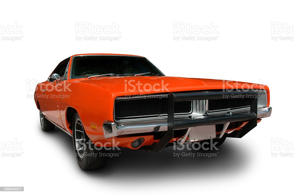 Orange 1969 Dodge Charger Muscle Car stock photo