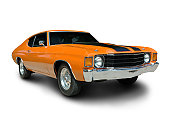 A classic 1971 Chevelle.  Vehicle has clipping path, excluding shadow.