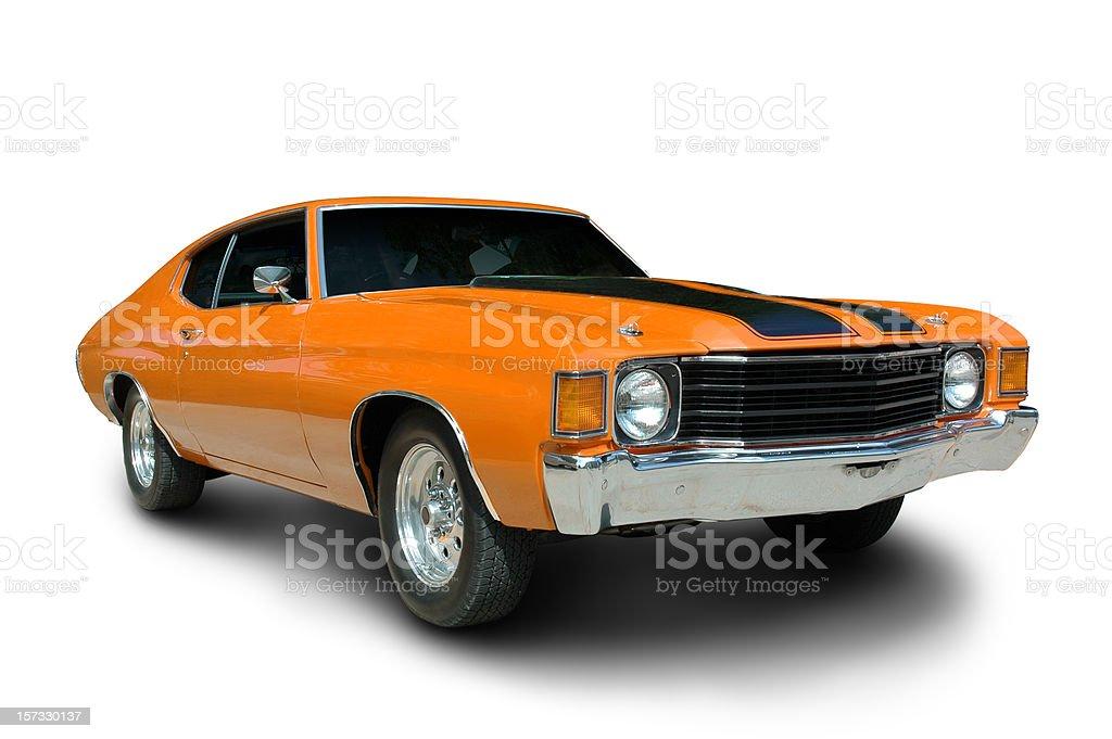 Orange 1971 Chevelle stock photo