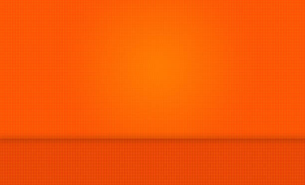 Abstrait Fond Orange avec mur et de sol - Photo