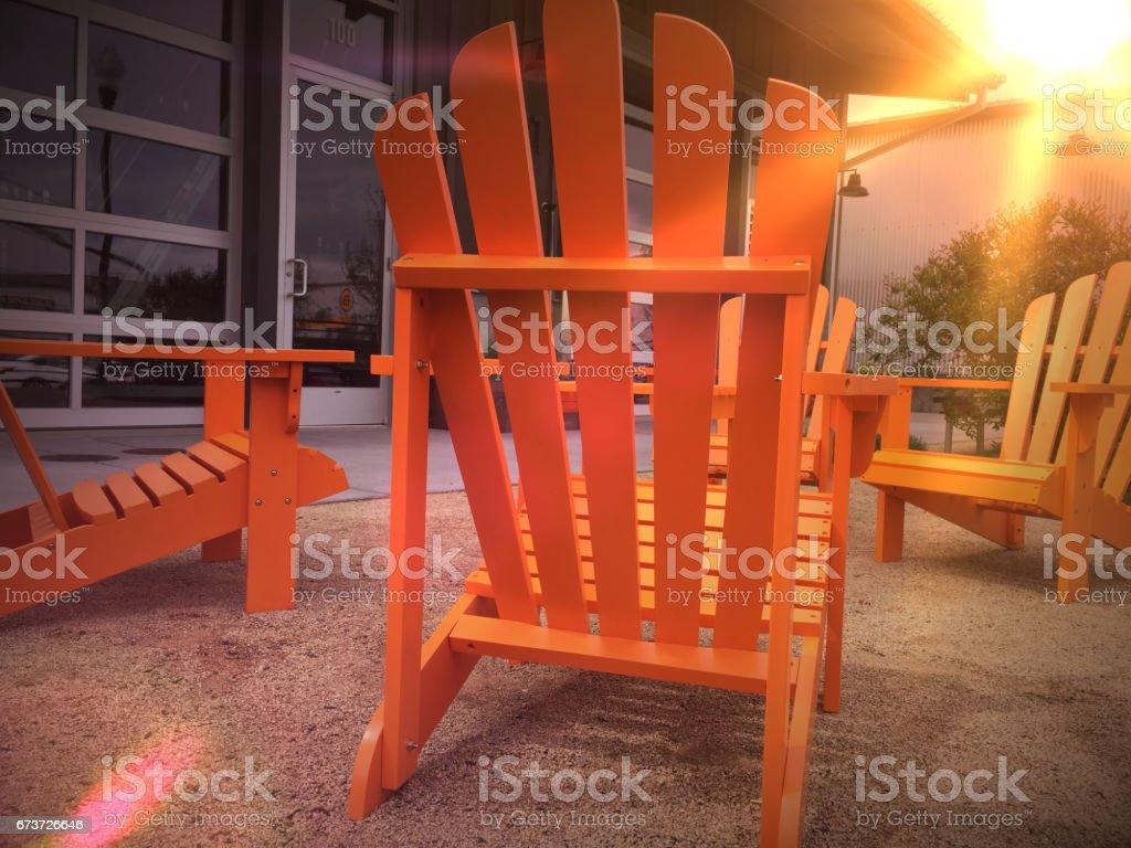 Orange Adirondack chairs 1 photo libre de droits