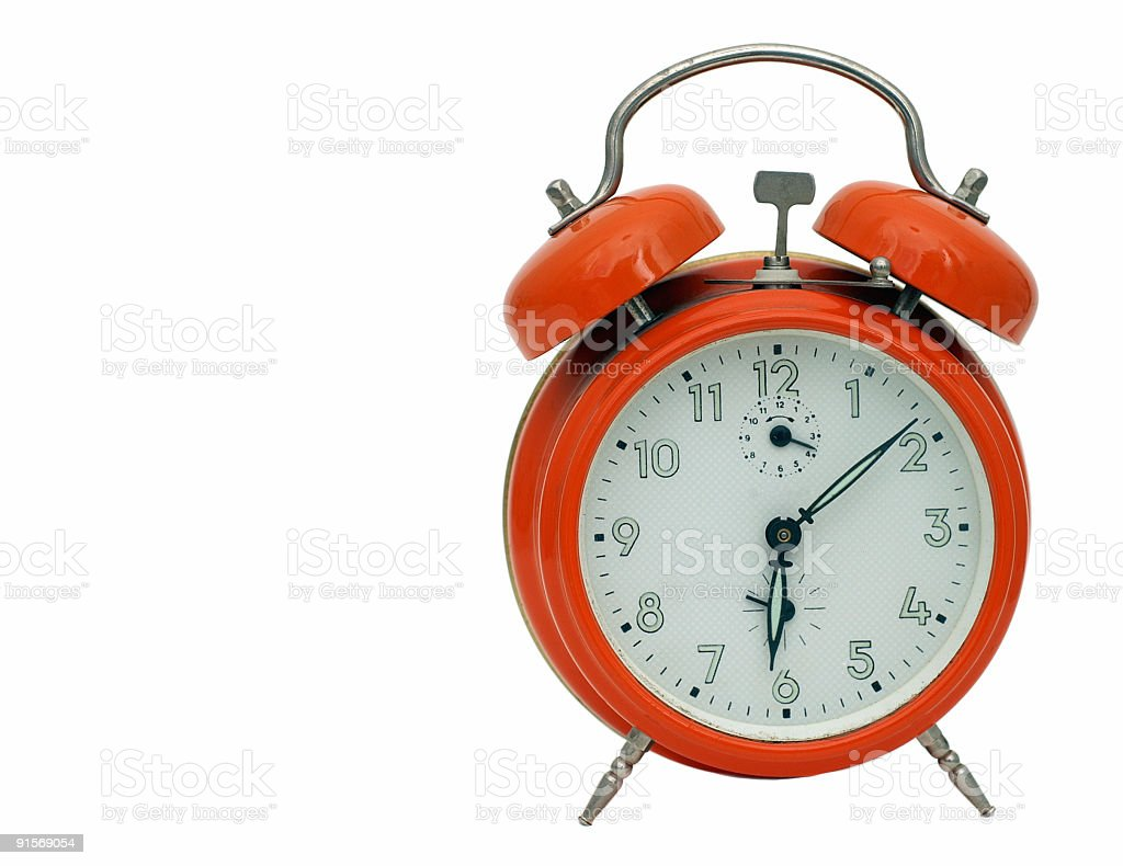 Orange Alarm Clock stock photo