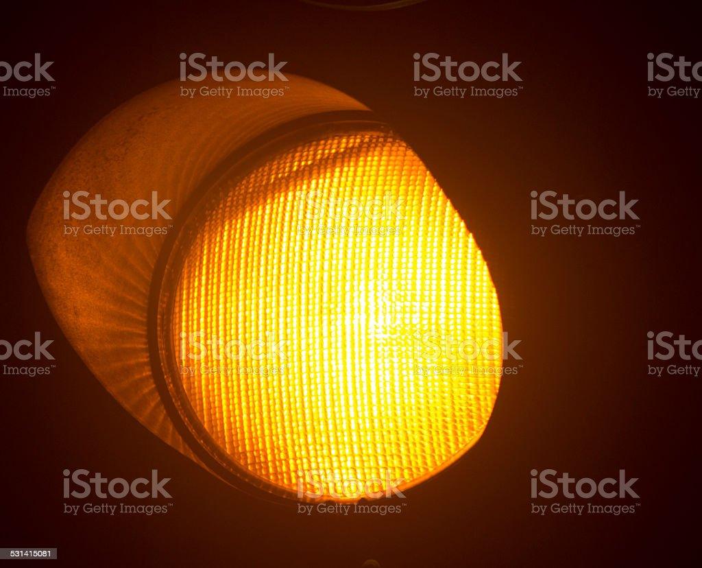 Orange amber traffic light stock photo