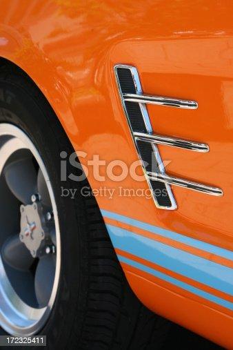 istock Orange American Classic Car 172325411