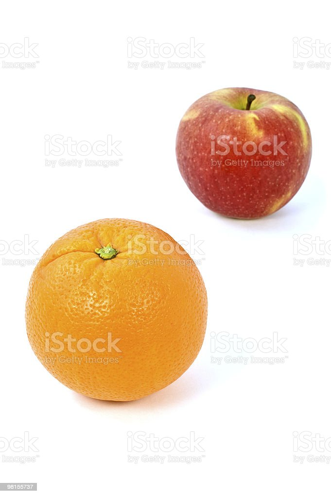 Orange and apple royalty-free stock photo