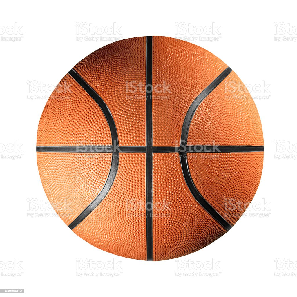 Cuir noir et Orange basket-ball sur fond blanc - Photo