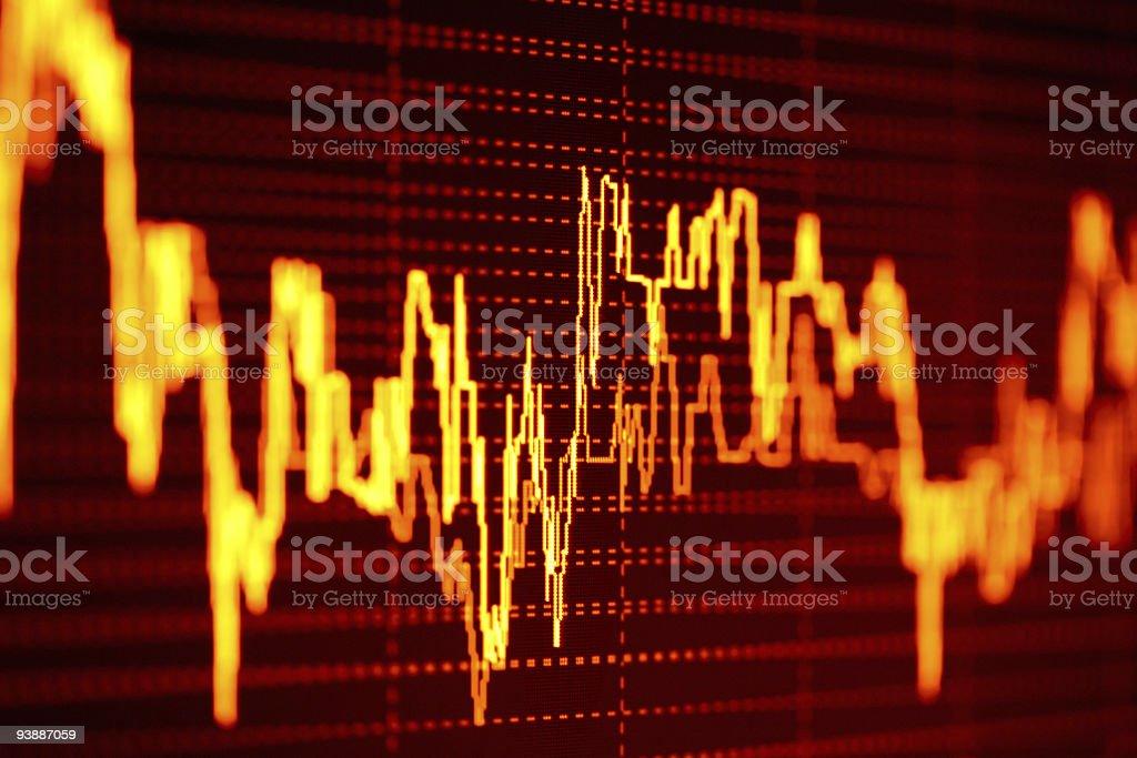 Orange and black stock market graphs royalty-free stock photo