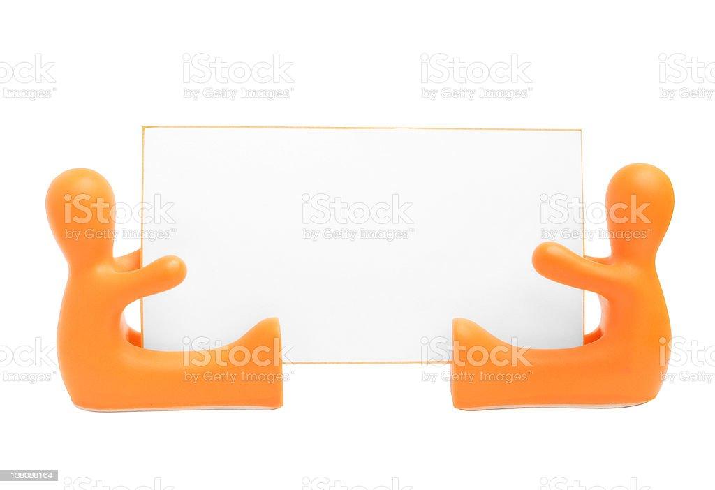 Orange and blank | Isolated stock photo