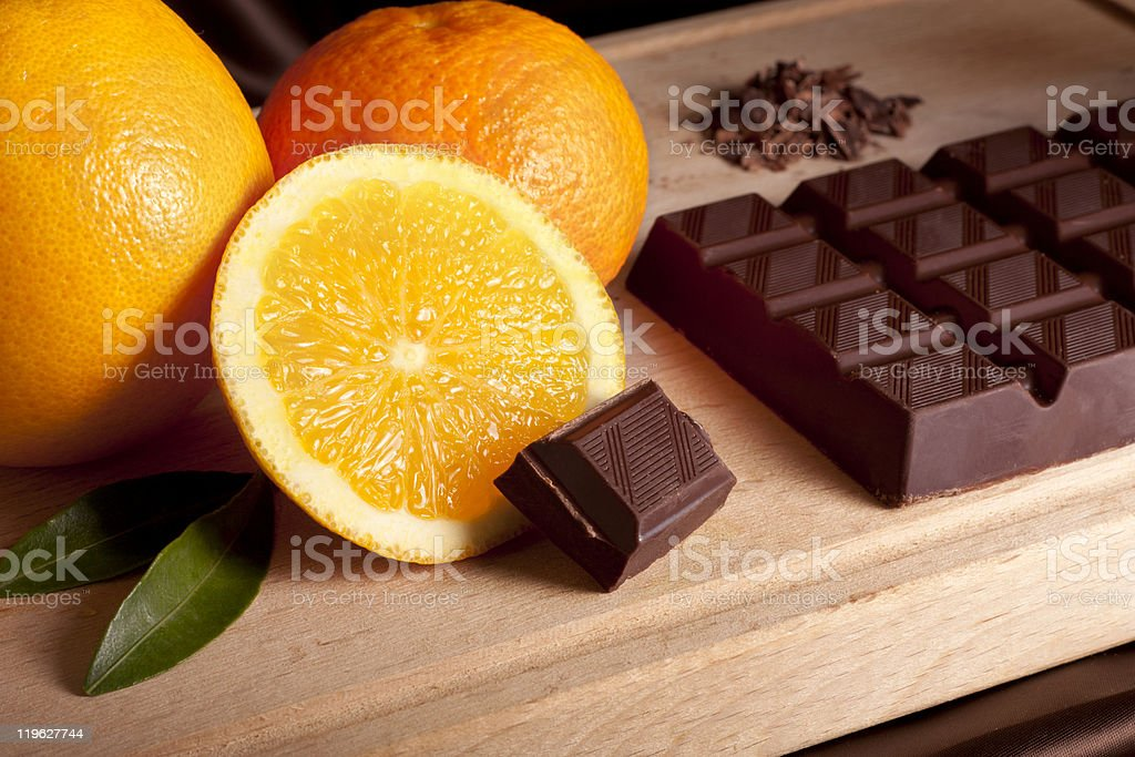 Orange and Chocolate stock photo