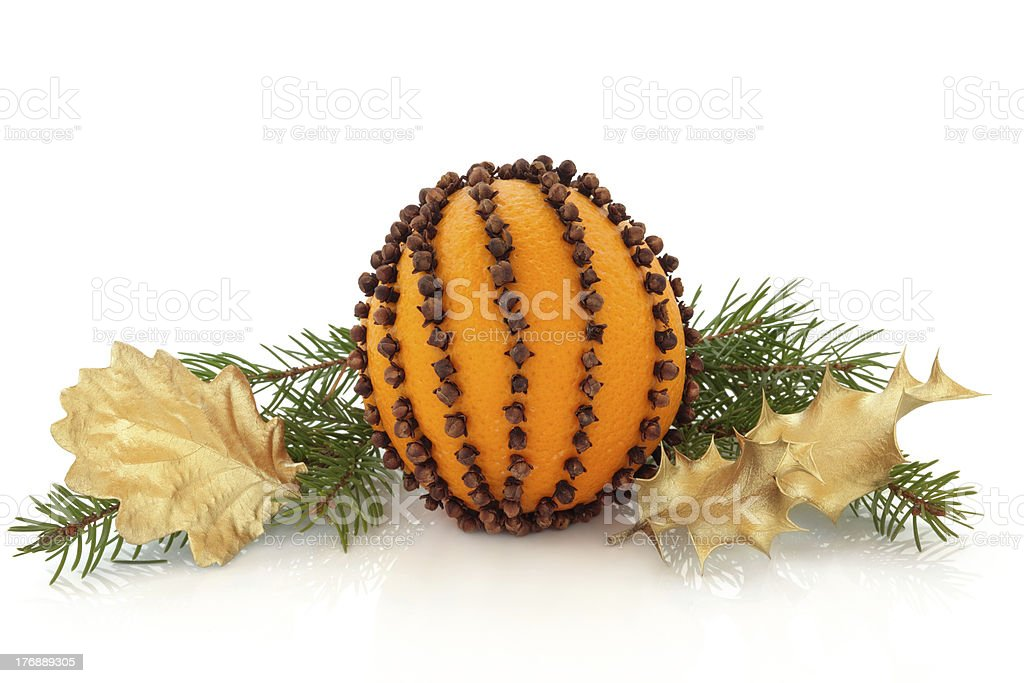 Orange and Clove Pomander royalty-free stock photo
