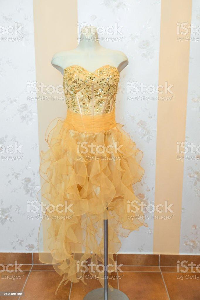 Orange and gold n Dress stock photo