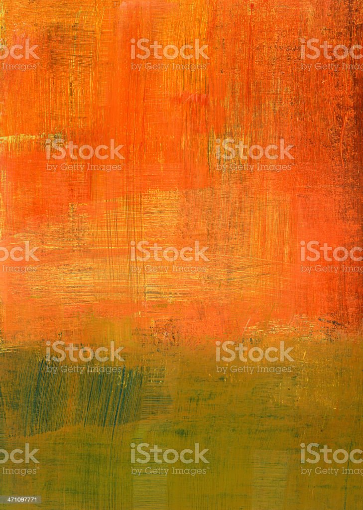 Orange and Green Abstract royalty-free stock photo