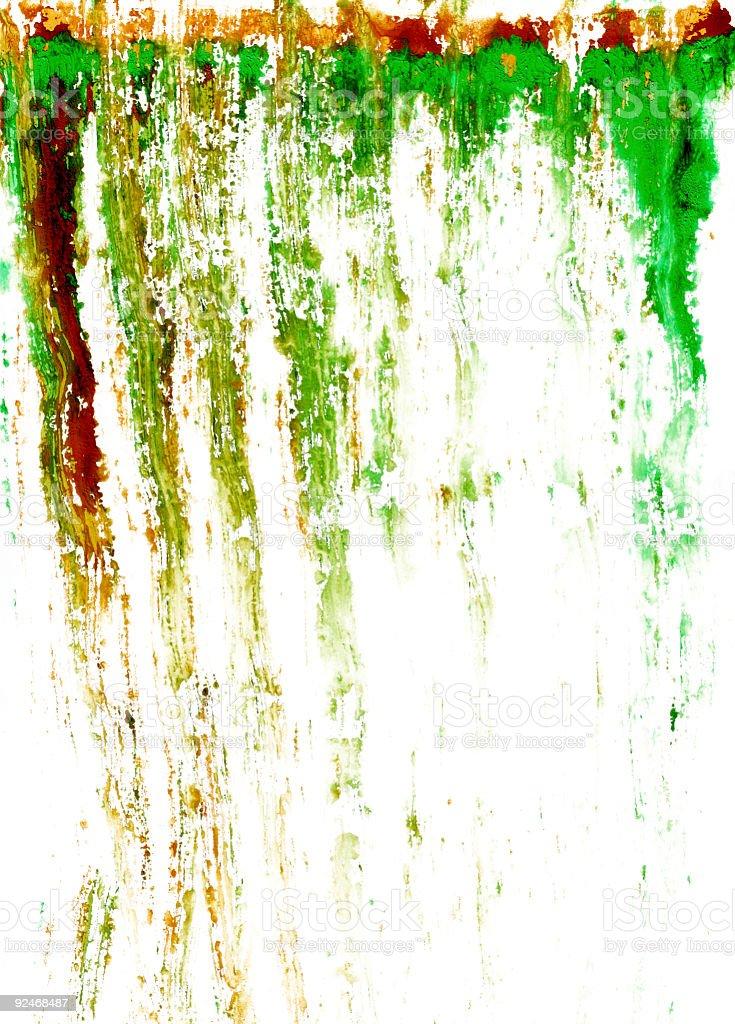 Orange and Green Streaks royalty-free stock photo