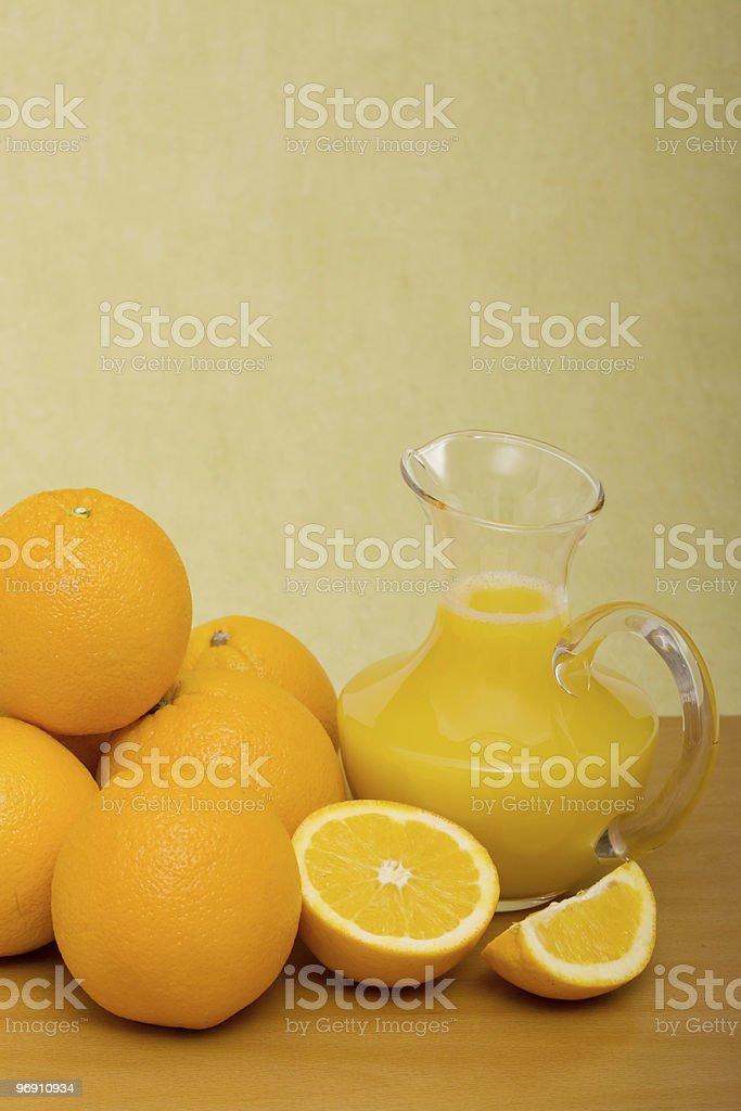 Orange and juice royalty-free stock photo
