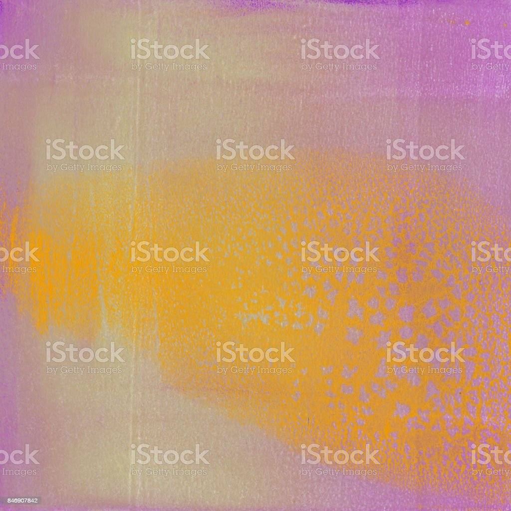 Orange and lavender hand painted background stock photo