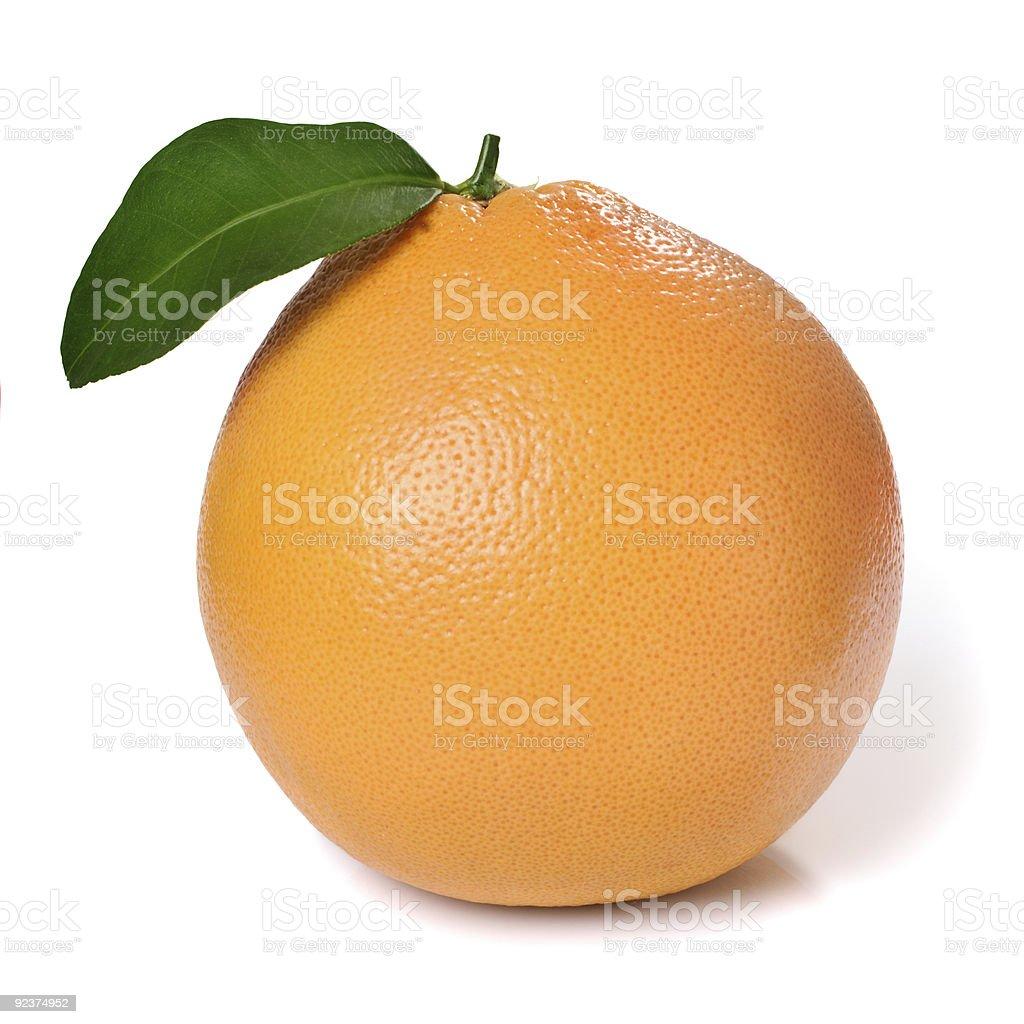 Orange and leaf royalty-free stock photo