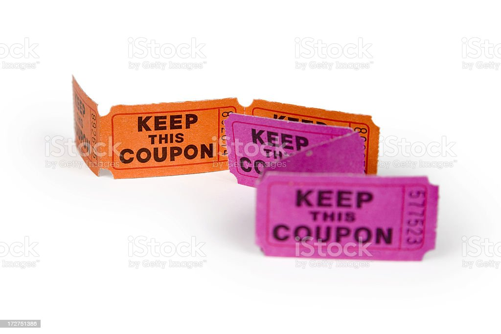 orange and pink door prize drawing raffle tickets stock photo more