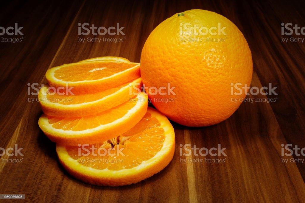 Orange und Scheiben – Foto