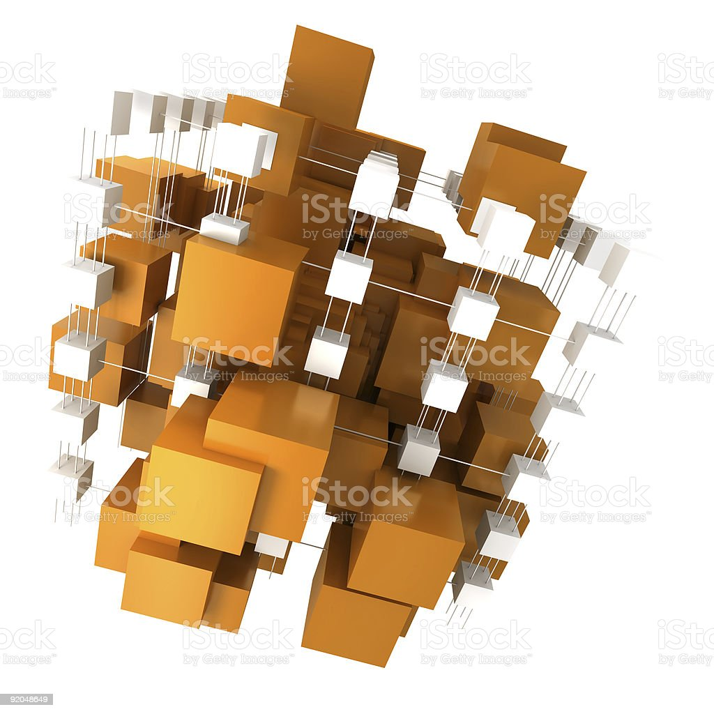 Orange and white abstract structure royalty-free stock photo