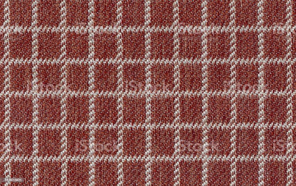 Orange and White Gingham Textile
