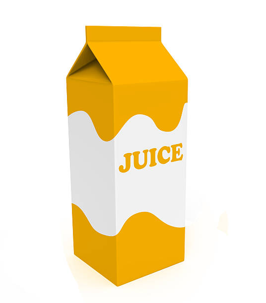 Orange und Weiß juice box – Foto