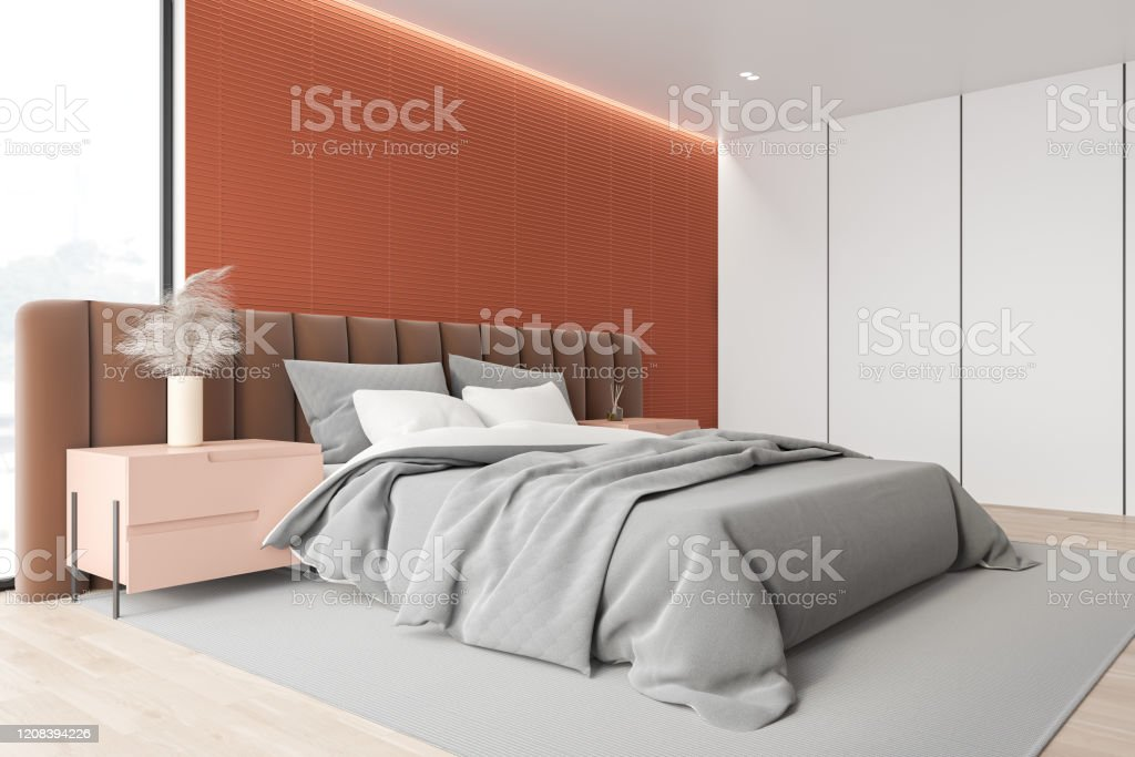 Orange And White Master Bedroom Corner Stock Photo Download Image Now Istock