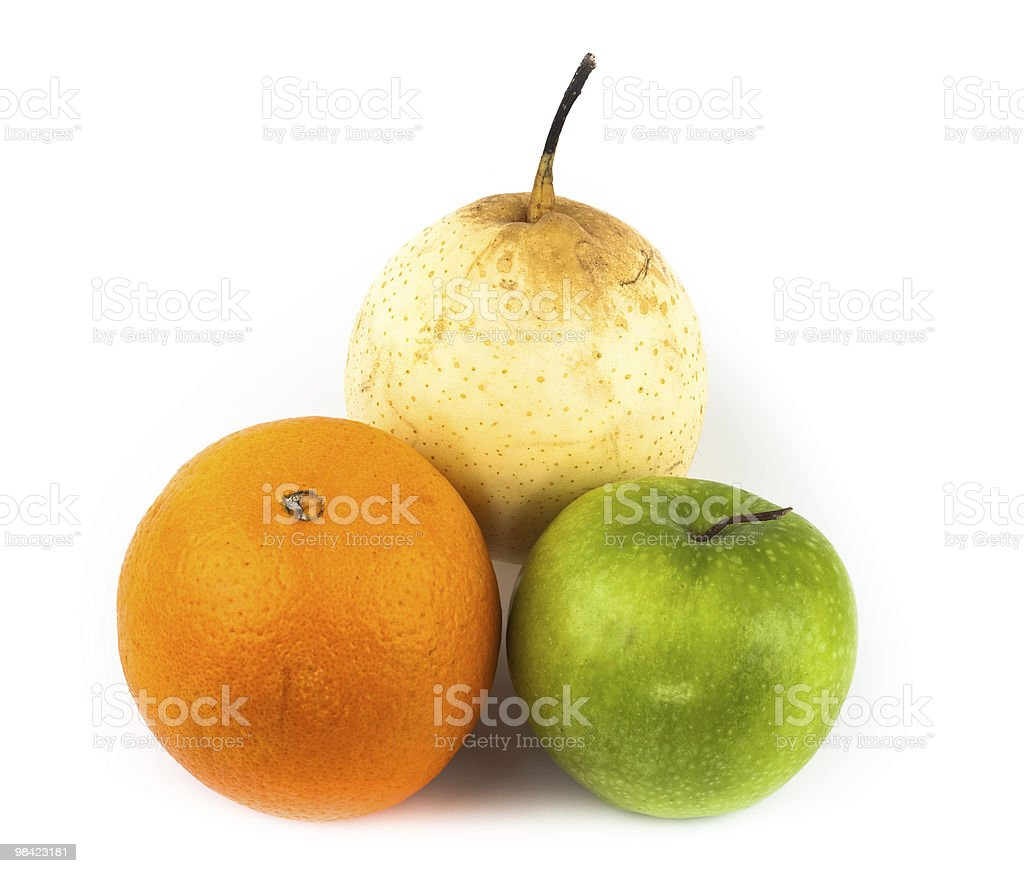 orange, apple, pear royalty-free stock photo