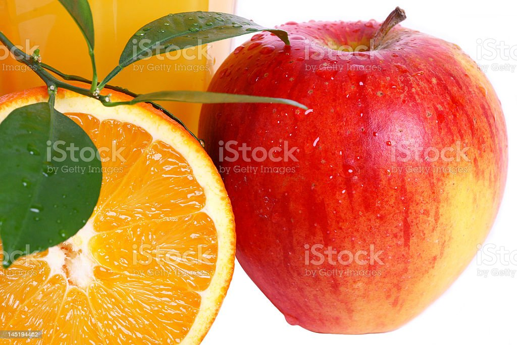 orange, apple royalty-free stock photo
