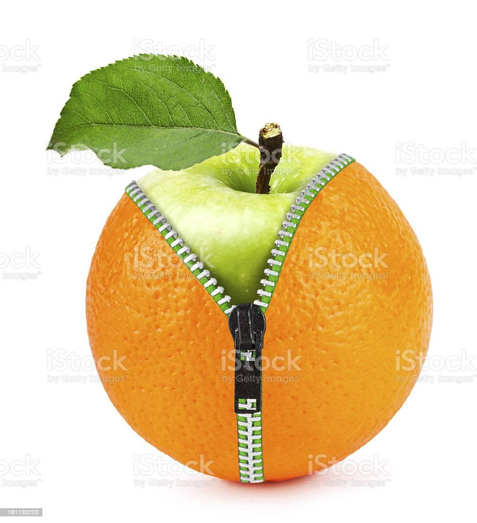 Orange apple stock photo