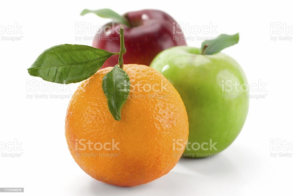 Orange & Apples royalty-free stock photo
