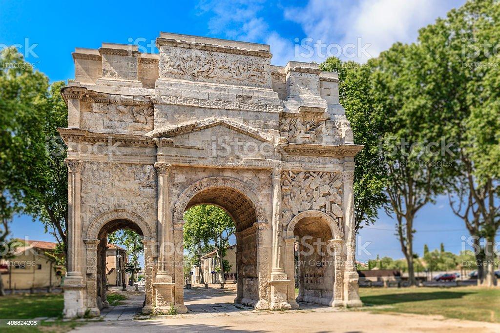 Orange, Arc de Triomphe - France stock photo