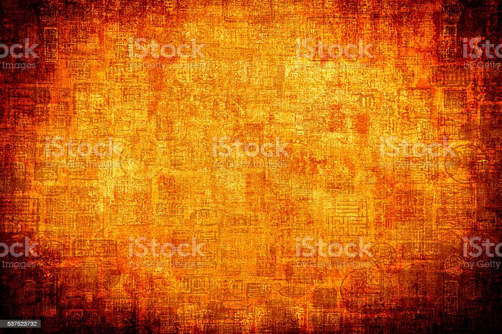 Orange Asian Abtract Background stock photo