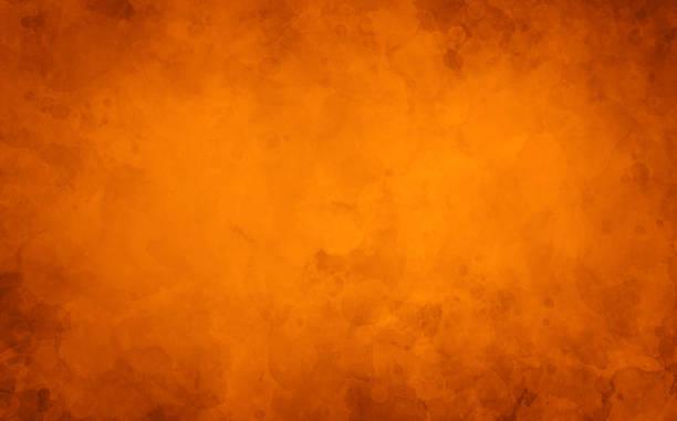 sfondo autunnale arancione, vecchia texture di carta ad acquerello, illustrazione grunge vintage in marmo dipinto per halloween e autunno - halloween foto e immagini stock