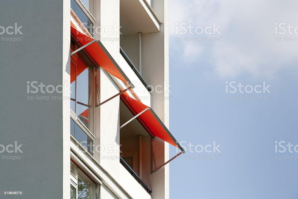 Orange awnings foto