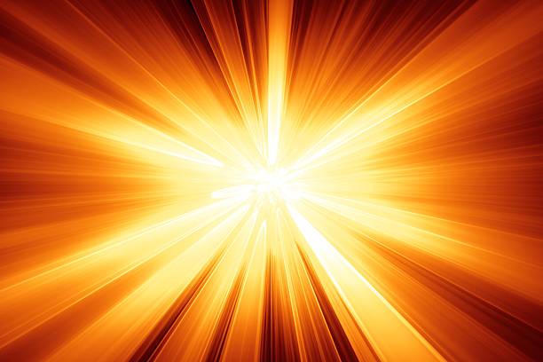 Orange background in a starburst pattern stock photo