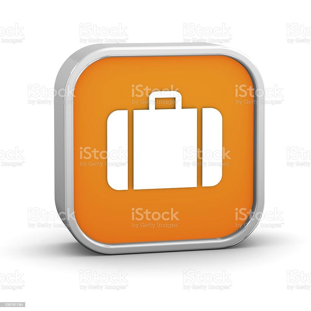 Panneau Orange bagages - Photo