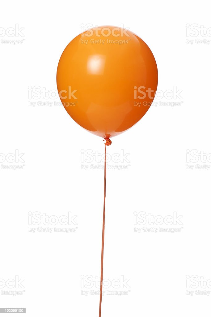 Orange balloon stock photo