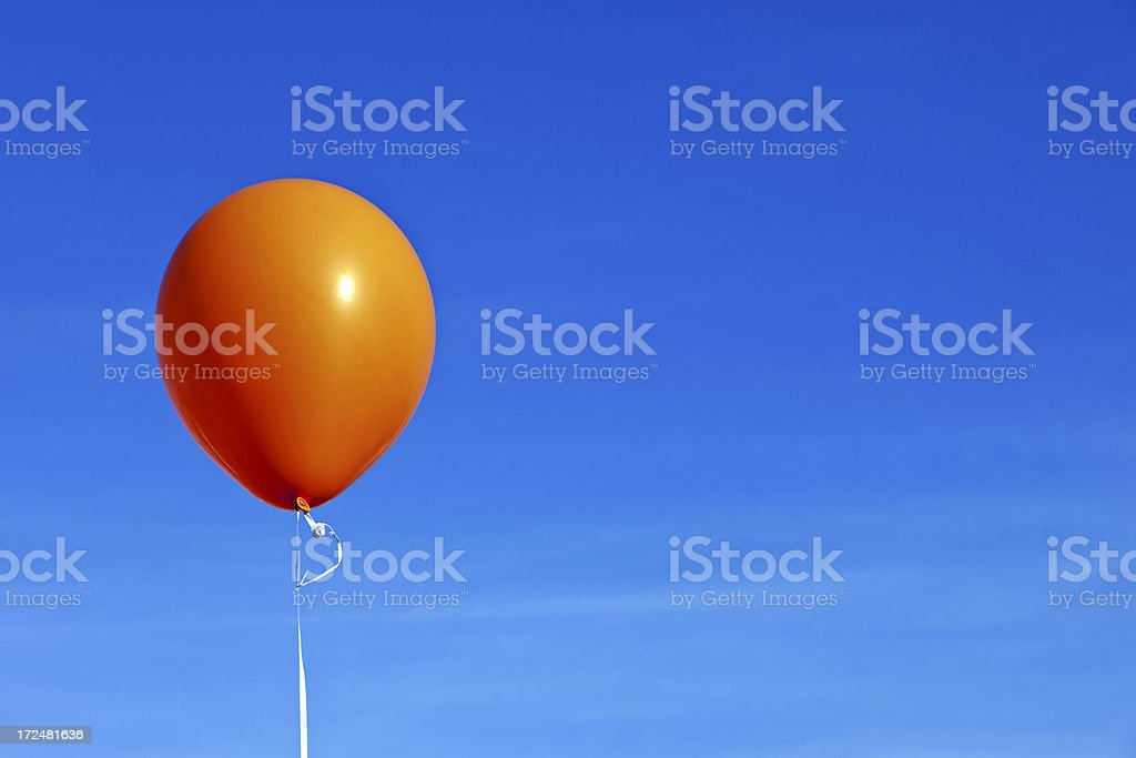 Orange balloon # 3 XXXL stock photo